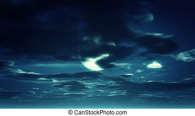 mond, nacht himmel