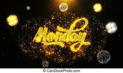 Monday Wishes Greetings card, Invitation, Celebration...