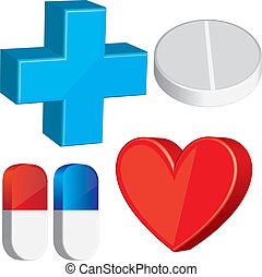 monde médical, éléments, 3d