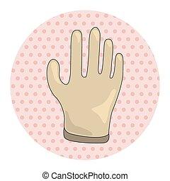 monde médical, éléments, gants, thème