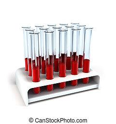 monde médical, éprouvette, échantillons, sanguine