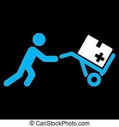 monde médical, achats, icône