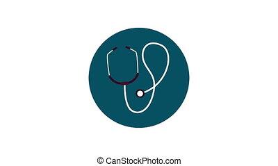 monde médical, animation, coeur, pouls, cardio