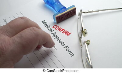 monde médical, appels, formulaire, confirmer