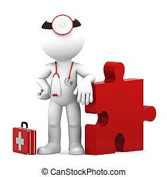 monde médical, challenge., isolé