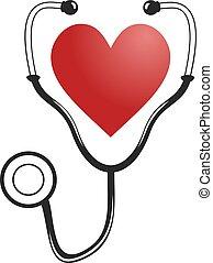 monde médical, coeur, symbole