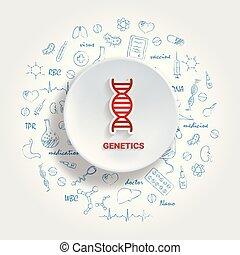 monde médical, concept., vecteur, médecine, main, ...