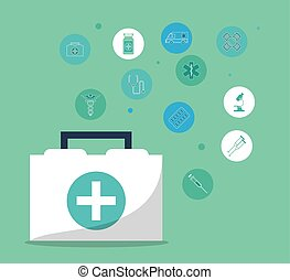 monde médical, conception, kit