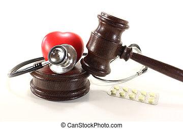 monde médical, droit & loi, à, stéthoscope