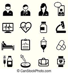 monde médical, ensemble, santé, icône, healthcare