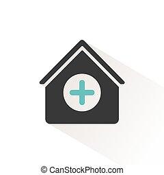 monde médical, equipment., illustration, kit, vecteur, médecine, maison, icon.