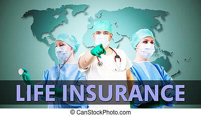 monde médical, fond, assurance-vie