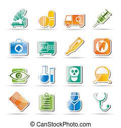 monde médical, hôpital, et, services médicaux