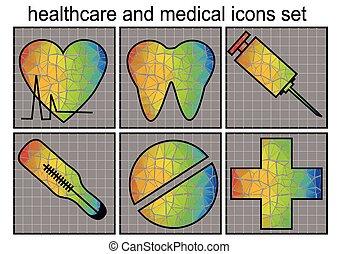 monde médical, healthcare, icône