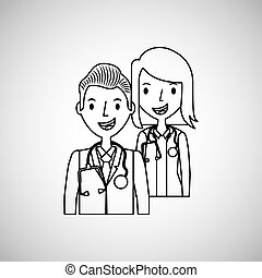 monde médical, infirmière, docteur