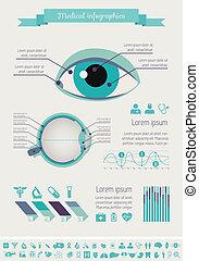 monde médical, infographic, template.