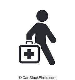 monde médical, isolé, illustration, unique, vecteur, icône