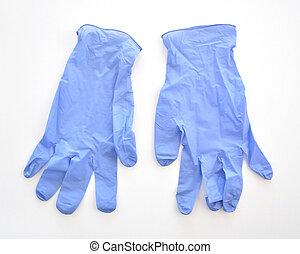 monde médical, jetable, gants latex