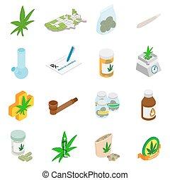 monde médical, marijuana, icônes
