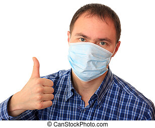 Monde Médical, masque, homme