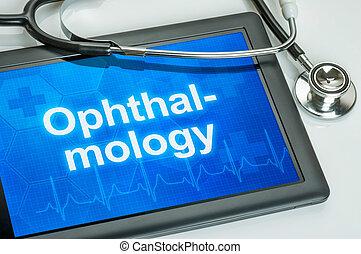 monde médical, ophtalmologie, spécialité, tablette, exposer