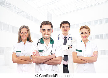 monde médical, ouvriers, jeune, intelligent, équipe