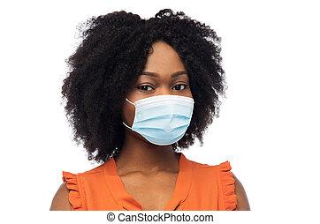monde médical, protecteur, américain, africaine, masque