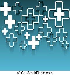monde médical, résumé, vecteur, fond, illustration