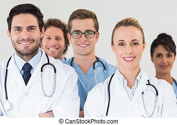 monde médical, sourire, ensemble, équipe