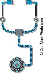 monde médical, stéthoscope, robotique, illustration