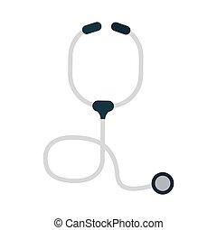 monde médical, stéthoscope, symbole