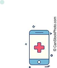 monde médical, vecteur, conception, icône
