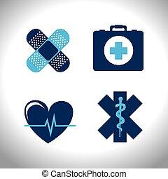 monde médical, vecteur, conception, illustration