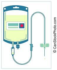 monde médical, vecteur, injection, isolé, blanc, plat, ...