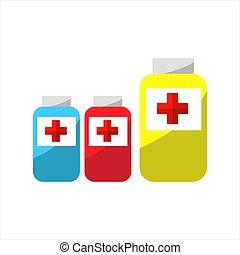 monde médical, vecteur, liquide, ilustration