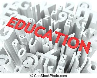 monde médical, wordcloud, concept., education.