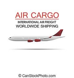 mondial, cargaison, expédition, air