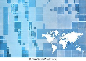 mondial, communications affaires