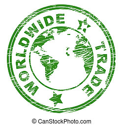 mondial, indique, globalise, commercer, e-commerce, importation