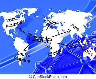 mondial, représente, commercer, e-commerce, globalisation, achat