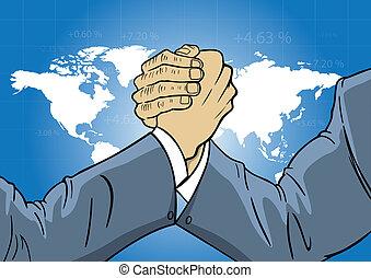 mondiale, économique, concurrence