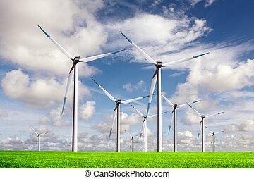 mondiale, énergie, vent