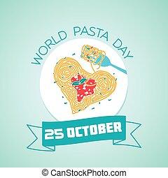 mondiale, 25, pâtes, jour, octobre