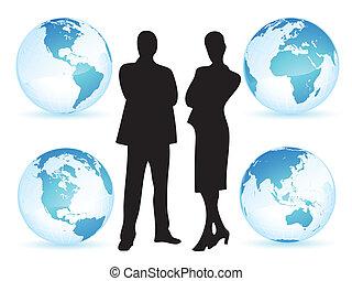 mondiale, affaires femme, homme