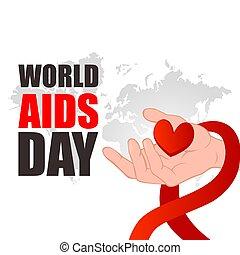 mondiale, aides, day.