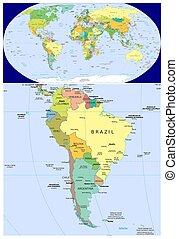 mondiale, amérique, sud