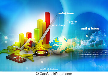 mondiale, analyser, business, graphique