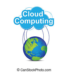 mondiale, autour de, nuage, calculer