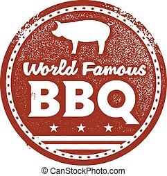 mondiale, barbecue, célèbre