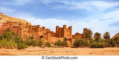 mondiale, ben, héritage, morocco., site, haddou, kasbah, ait, unesco, ouarzazate